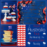 Happy Australia Day deisgner pack collage Royalty Free Stock Image