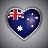 Happy australia day with flag on a heart design. Happy australia day with flag on a heart vector illustration graphic design Stock Photo