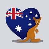Happy australia day with flag on a heart design. Happy australia day with flag on a heart vector illustration graphic design Royalty Free Stock Photography