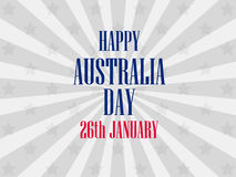 Happy Australia day 26 january. Festive background for banners and posters. Vector Royalty Free Stock Photo