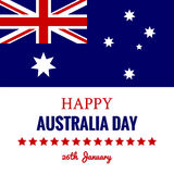 Happy Australia Day 26 January Festive Design Stock Images