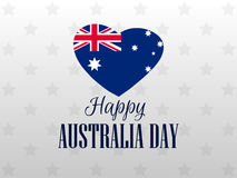Happy Australia day 26 january. Heart with the flag of Australia. Vector Stock Photos