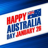 Happy Australia Day, january 26 greeting card. Happy Australia Day, january 26 national holiday greeting card. Vector Illustration Stock Photography
