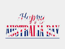 Happy Australia day 26 january. Text with Australia flag pattern for greeting card. Vector Stock Photos