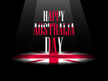 Happy Australia day 26 january. The text with the Australian flag.  Royalty Free Stock Photos