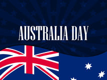 Happy Australia day 26 january. The text with the Australian flag. Vector Stock Photography