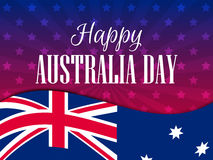 Happy Australia day 26 january. The text with the Australian flag. Vector Royalty Free Stock Image