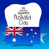 Happy Australia Day 26 January. Vector illustration of a Background for Happy Australia Day 26 January Royalty Free Stock Images