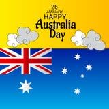 Happy Australia Day 26 January. Vector illustration of a Background for Happy Australia Day 26 January Stock Photo