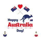 Happy Australia day. Stock Photo