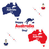 Happy Australia day. Royalty Free Stock Photos