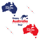 Happy Australia day. Royalty Free Stock Images
