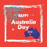 Happy Australia day Royalty Free Stock Photo