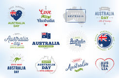 Happy Australia day vector design. Stock Image