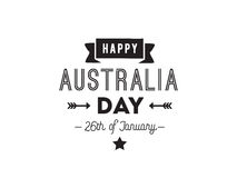 Happy Australia day vector design. Stock Image