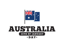 Happy Australia day vector design. Royalty Free Stock Images