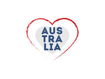 Happy Australia day vector design. Royalty Free Stock Images