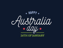 Happy Australia day vector design. Royalty Free Stock Image