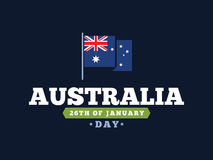 Happy Australia day vector design. Stock Images