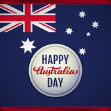 Happy Australia Day vector illustration Royalty Free Stock Image