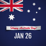 Happy Australia Day vector illustration Stock Photos