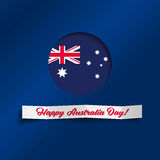 Happy Australia Day vector illustration Stock Photo