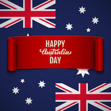 Happy Australia Day vector illustration Royalty Free Stock Photo