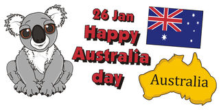 Happy Australian day Stock Photos