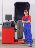 Happy auto mechanic Stock Photography