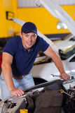 Happy auto mechanic Royalty Free Stock Photo