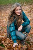 Happy in autumn Royalty Free Stock Image