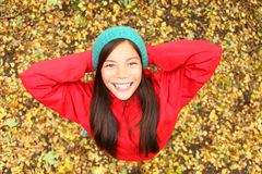 Happy autumn girl Royalty Free Stock Image