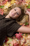 Happy Autumn Girl Royalty Free Stock Photos