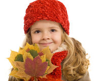 Happy autumn girl Stock Photo