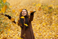 Happy autumn girl. Royalty Free Stock Photos