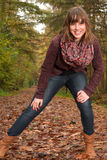 Happy autumn girl Royalty Free Stock Images