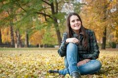 Happy autumn lifestyle portrait Stock Photos