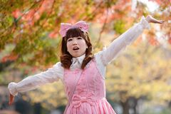 Happy autumn lolita Stock Photo