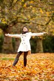 Happy Autumn woman Stock Photos