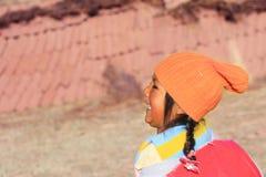 Happy aymara girl Stock Images