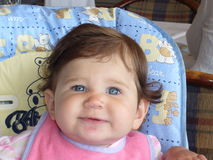 Happy baby. My baby girl Alara. She is 1 years old stock photography