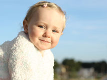 Happy baby. Cute little baby girl happy smiling Royalty Free Stock Photography