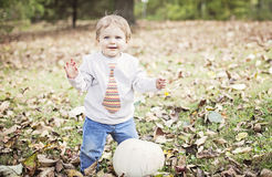 Happy baby in Autumn Stock Photos