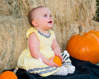 Happy Baby in Autumn Stock Image