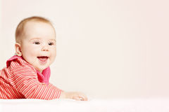 Happy Baby on Background. Cute Little Baby Royalty Free Stock Photography