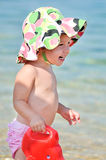Happy baby on the beach Royalty Free Stock Photos
