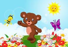 Happy baby bear cartoon Royalty Free Stock Image