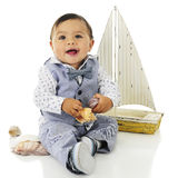 Happy Baby Boat Lover Royalty Free Stock Images