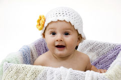 Happy Baby in Box Royalty Free Stock Image