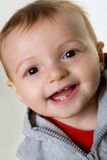 Happy Baby Boy. In sweatshirt studio portraits Royalty Free Stock Photos